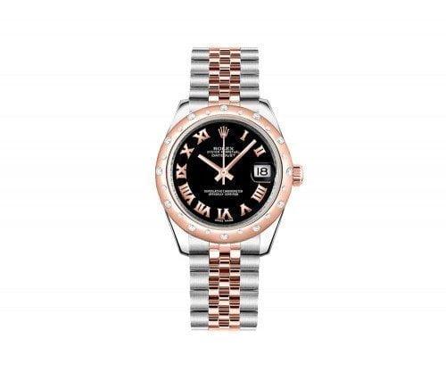 Rolex Lady Datejust 178341-blkrj 31 Diamonds Jubilee Bracelet Watch