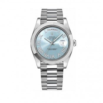 Rolex Day-Date II 218206-bludrsp Diamonds Platinum Watch @majordor #majordor