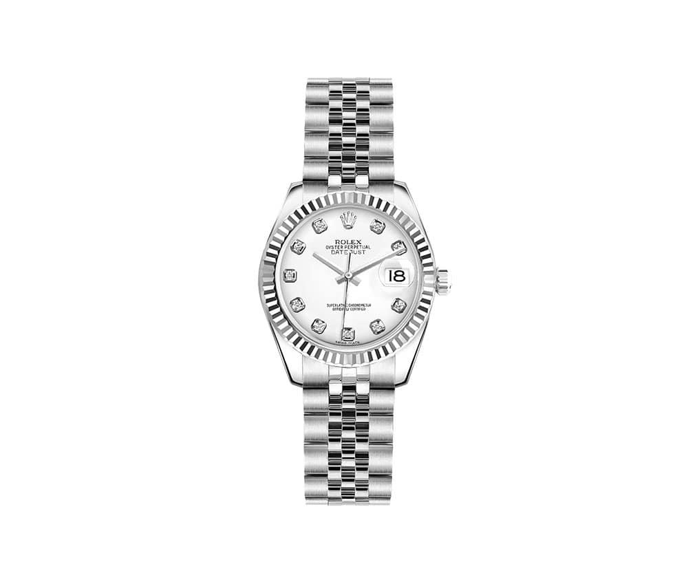 Rolex Lady Datejust 179174 Whtdj 26mm Luxury Womens Watch