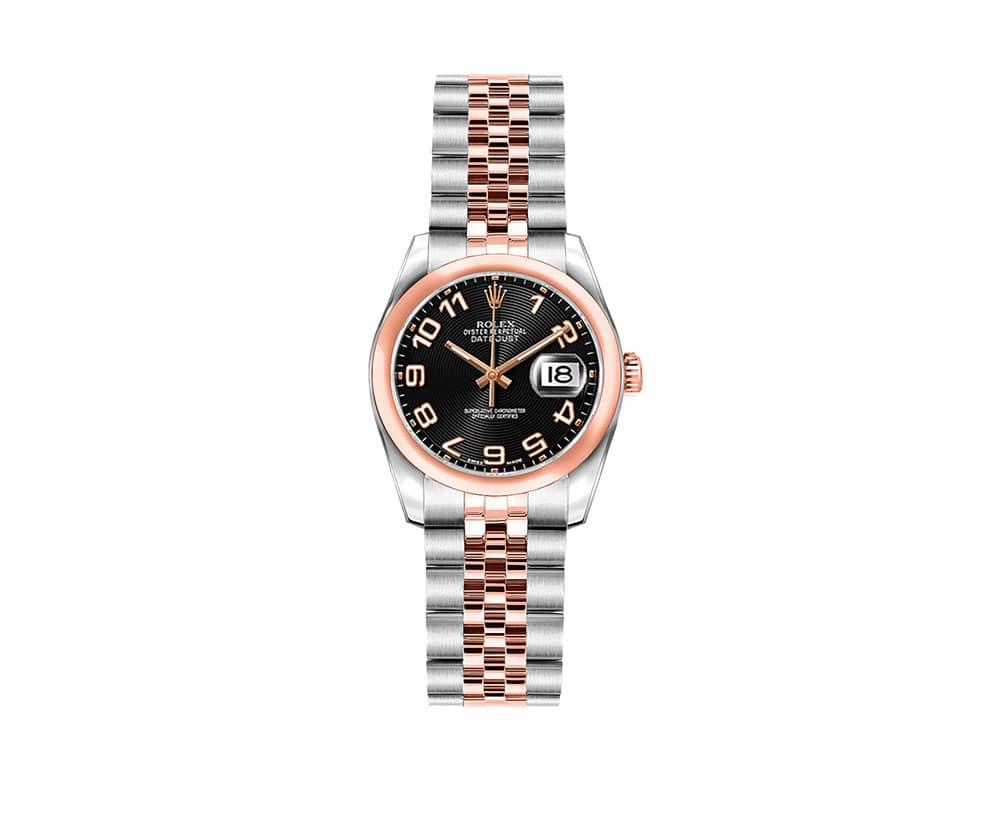 Rolex Lady Datejust 179161-BLKCAJ 26mm Luxury Womens Watch