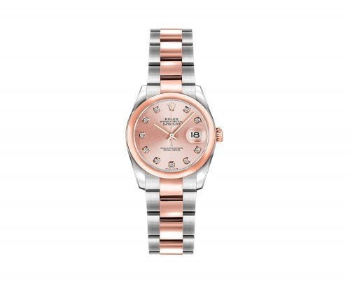 Rolex Lady-Datejust 179161 26mm Pink Diamond Rose Gold Watch