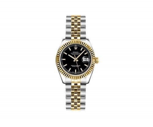 Rolex Lady Datejust 179173-BLKSJ 26mm Luxury Womens Watch