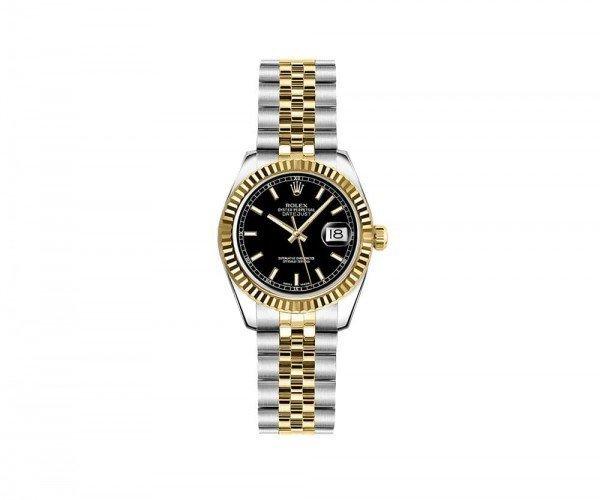 Rolex Lady Datejust 179173-BLKSJ 26mm Luxury Womens Watch