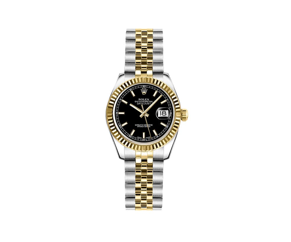 Rolex Lady Datejust 26mm Luxury Womens Watch 179173-BLKSJ