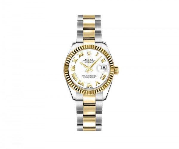 Rolex Lady-Datejust 179173-WHTRO 26 Womens Luxury Watch