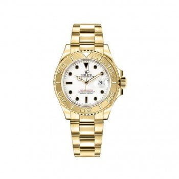 168628-WHT Rolex Yacht Master 35 Womens Luxury Watch