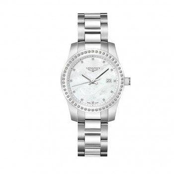 Longines Conquest Quartz Ladies Luxury Watch L3.300.0.87.6