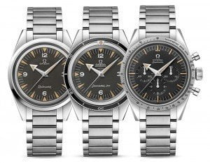 Omega Limited Edition 1957 Trilogy Series Speedmaster '57 Seamaster 300 Railmaster