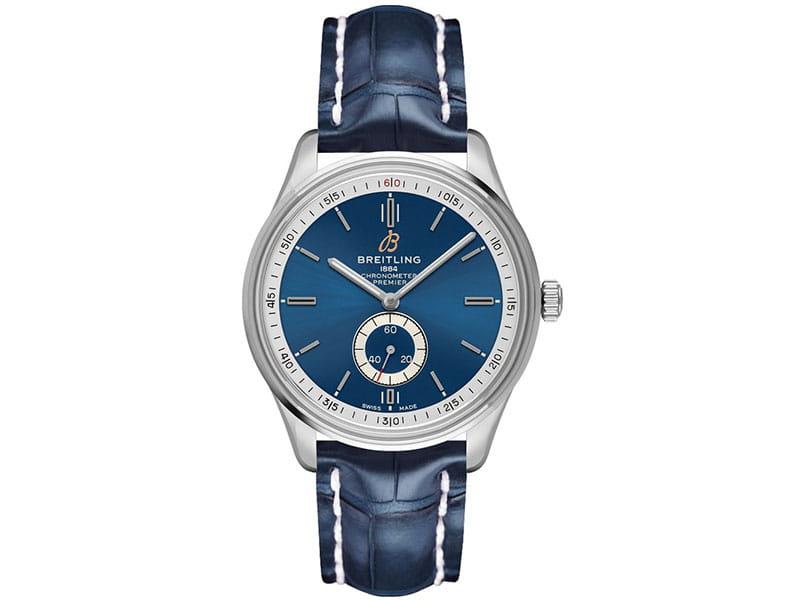 Breitling Premier a37340351c1p2 40mm Blue Dial Mens Watch