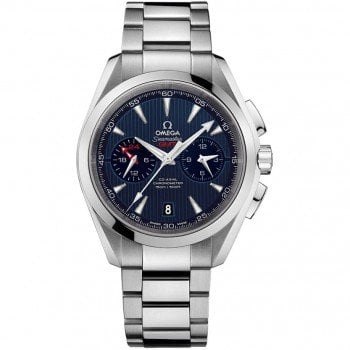 Omega Aqua Terra 150m GMT Chronograph 43mm 231.10.43.52.03.001 front view