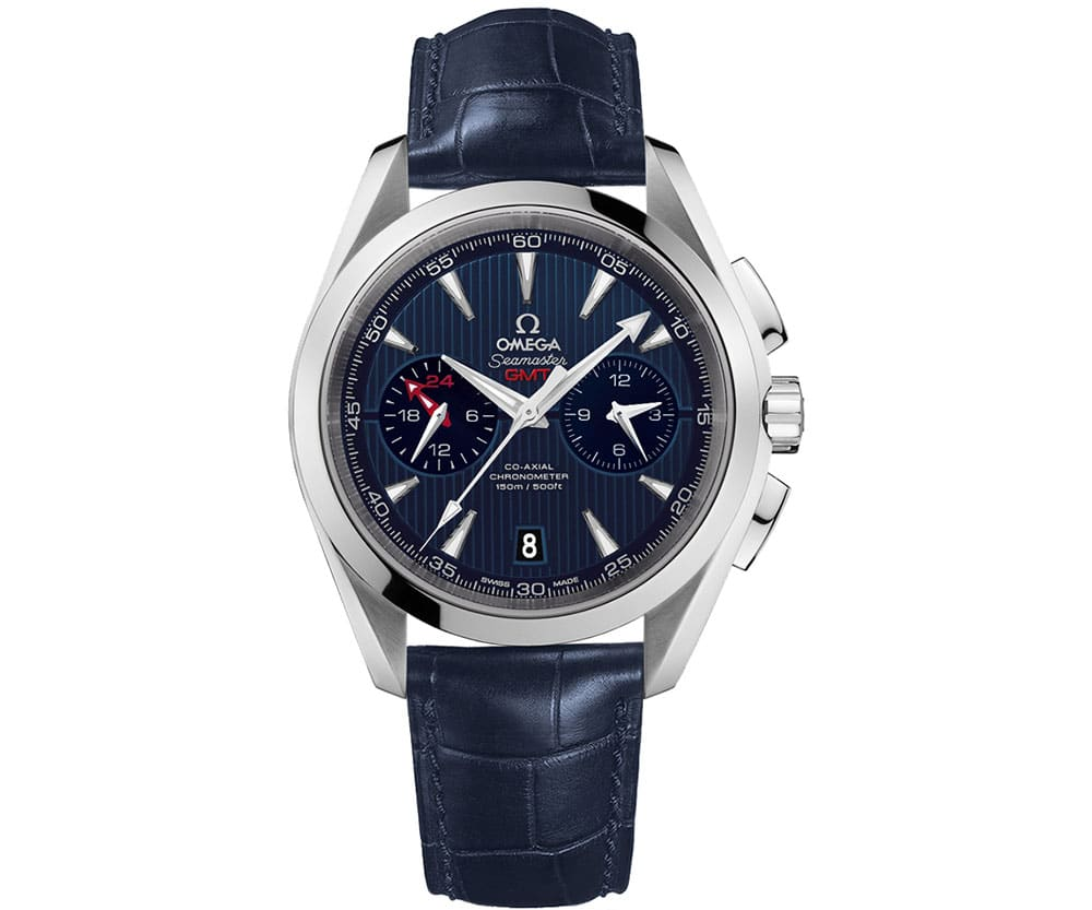 Seamaster Aqua Terra GMT Chronograph Blue dial 43mm 231.13.43.52.03.001 front side