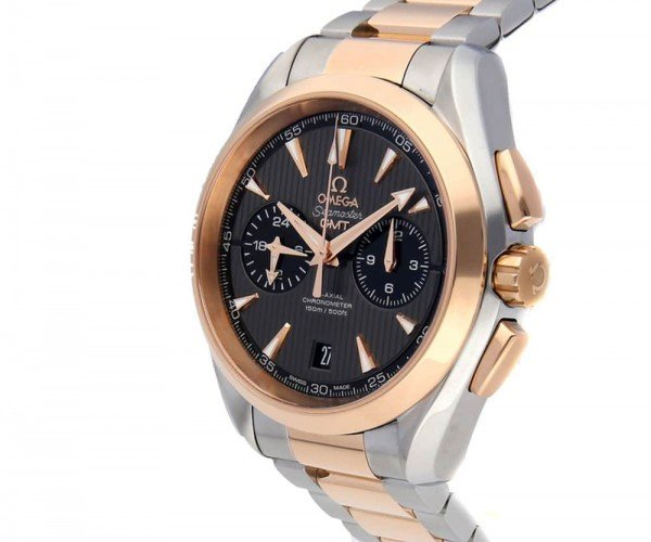Omega Aqua Terra 150m GMT Chronograph 43mm 231.20.43.52.06.001 side view