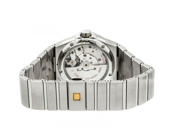 Omega Constellation 123.10.38.22.01.001 Co-Axial Automatic 38 mm Day-Date Mens Watch back case view