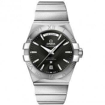 Omega Constellation 123.10.38.22.01.001 Co-Axial Automatic 38 mm Day-Date Mens Watch front view