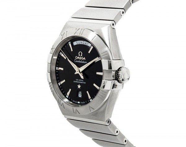 Omega Constellation 123.10.38.22.01.001 Co-Axial Automatic 38 mm Day-Date Mens Watch side view 1