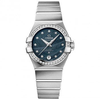 Omega Constellation 123.15.27.20.53.001 Co-Axial Automatic 27mm Ladies Watch front view @majordor