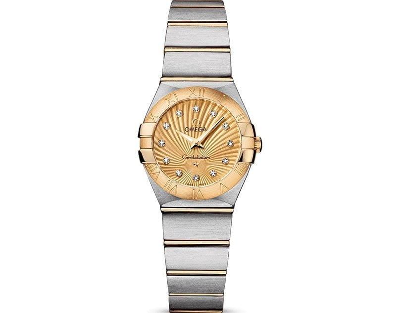 Omega Constellation 123.20.24.60.58.001 Quartz 24mm Ladies Watch front view
