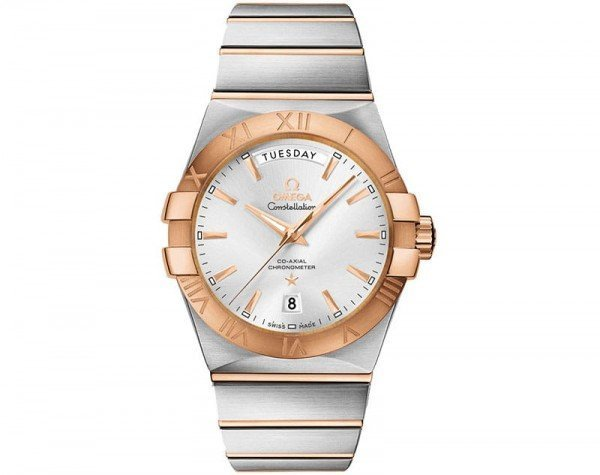 Omega Constellation 123.20.38.22.02.001 Co-Axial Automatic 38 mm Day-Date Mens Watch front view