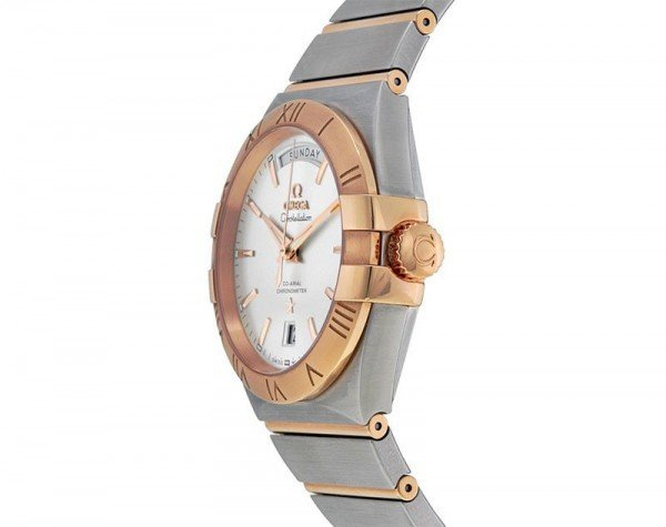 Omega Constellation 123.20.38.22.02.001 Co-Axial Automatic 38 mm Day-Date Mens Watch side view