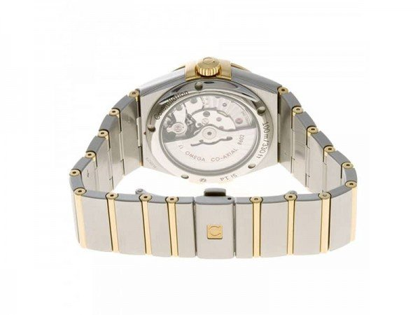 Omega Constellation 123.20.38.22.02.002 Automatic Day-Date Watch Caliber 8602 case back view