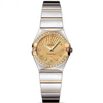 Omega Constellation 123.25.24.60.58.002 Quartz 24mm Ladies Watch front view