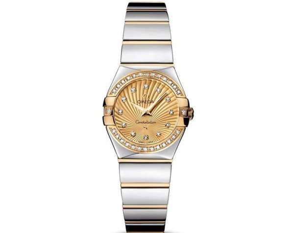 Omega Constellation 123.25.24.60.58.002 Quartz 24mm Ladies Watch front view