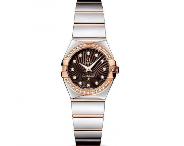 Omega Constellation 123.25.24.60.63.002 Quartz 24mm Ladies Watch front view