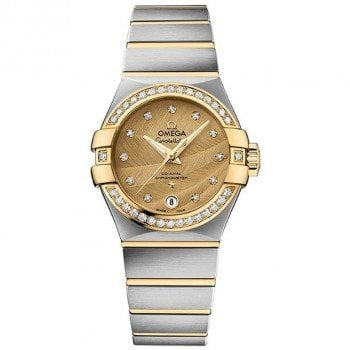 Omega Constellation 123.25.27.20.58.002 Co-Axial Automatic 27mm Ladies Watch front view