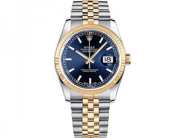 Rolex Datejust 116233-blusj 36mm Yellow Rolesor Watch @majordor #majordor
