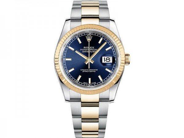 Rolex Datejust 116233-bluso 36mm Yellow Rolesor Watch @majordor #majordor