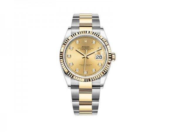 Rolex Datejust 126233-chpdo 36mm Yellow Rolesor Ladies Watch @majordor #majordor