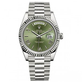 Rolex Day-Date 228239 40 Green Dial White Gold Luxury Watch @majordor #majordor