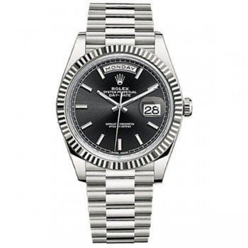 Rolex Day-Date 228239 blksp 40 Black Dial White Gold Luxury Watch @majordor #majordor