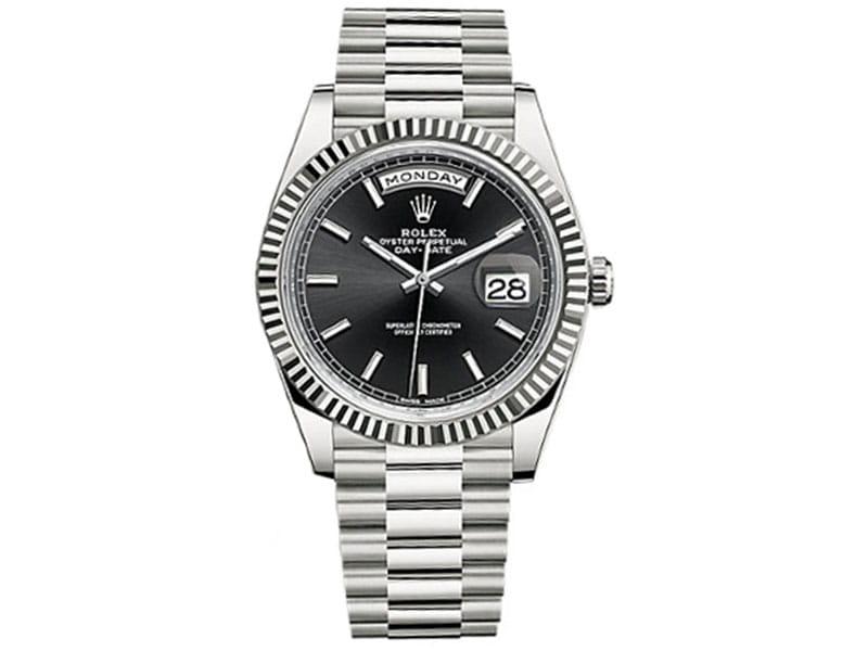 in vendita e445d 3a94b Rolex Day-Date 228239 blksp 40 Black Dial White Gold Luxury Watch