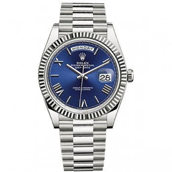 Rolex Day-Date 228239 blurp 40 Blue Dial White Gold Luxury Watch @majordor #majordor
