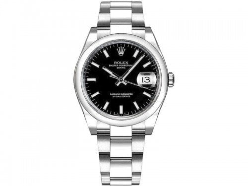 115200 Rolex Oyster Perpetual Date 34 Black Dial Lady Watch blkso @majordor #majordor