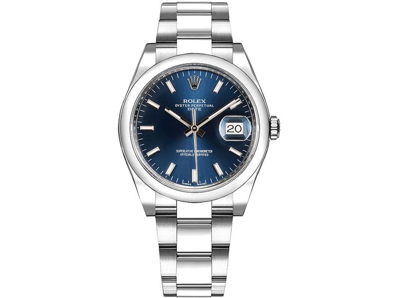 115200 Rolex Oyster Perpetual Date 34 Blue Dial Lady Watch bluso caliber 3135 @majordor #majordor