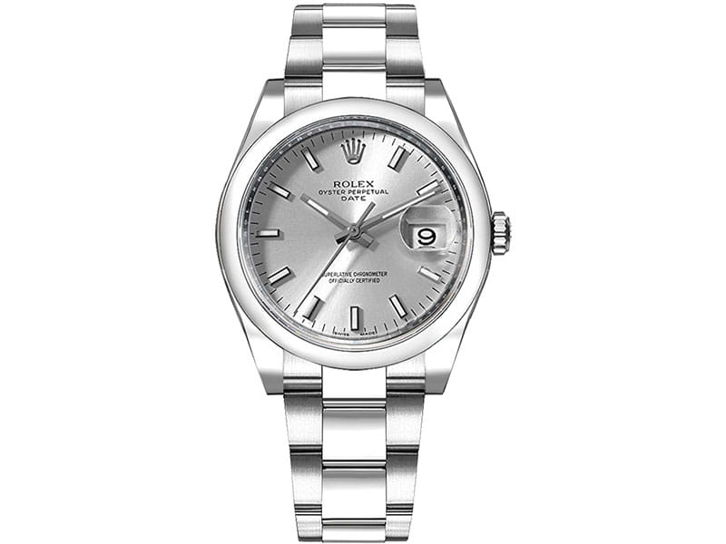 115200 Rolex Oyster Perpetual Date 34 Silver Dial Lady Watch slvso @majordor #majordor