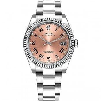 115234 Rolex Date pnkdro Oyster Perpetual 34 Silver Dial Lady Watch @majordor #majordor