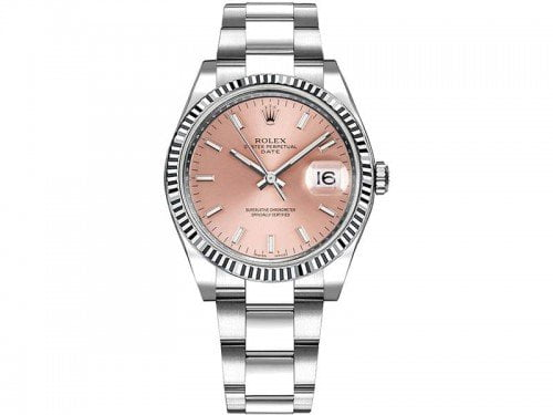 115234 Rolex Date pnkso Oyster Perpetual 34 Silver Dial Lady Watch caliber 3135 @majordor #majordor