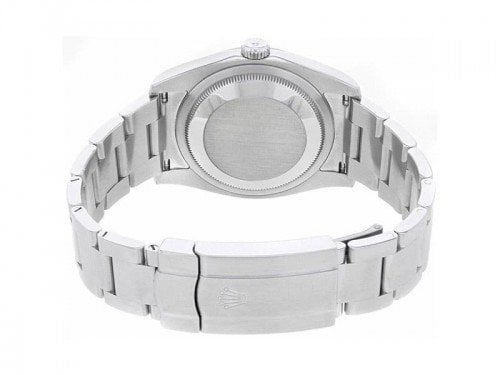 Rolex 116000 SLVASO Oyster Perpetual 36 Silver Dial Ladies Watch caliber 3130 case back