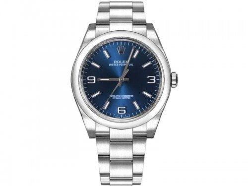 Rolex 116000 bluaso Oyster Perpetual 36 mm Blue Dial Ladies Watch