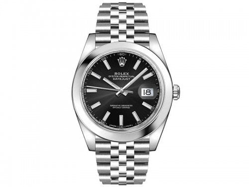 Rolex Datejust m126300-0012 blksj 41mm Black Dial