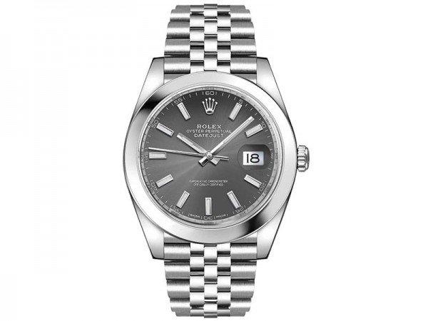 Rolex Datejust 126300 rhosj 41 Grey Dial Jubilee Steel Bracelet Watch @majordor #majordor