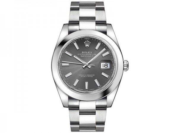 Rolex Datejust 126300 rhoso 41 Grey Dial Oyster Steel Bracelet Watch @majordor #majordor