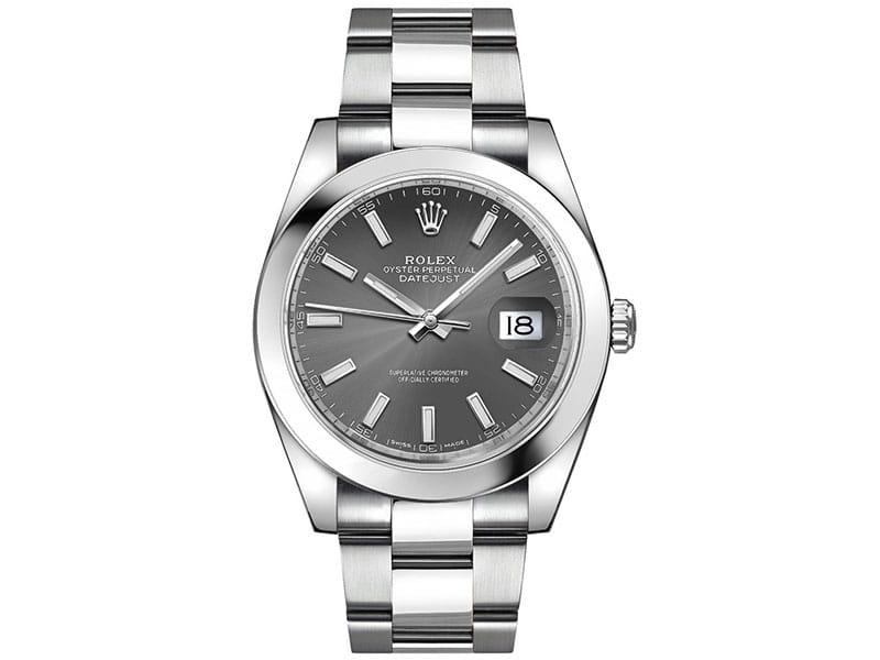 Rolex Datejust m126300-0007 drhoso 41mm Grey Dial