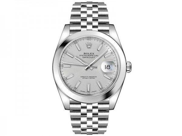 Rolex Datejust 126300 slvsj 41 Silver Dial Jubilee Steel Bracelet Watch @majordor #majordor