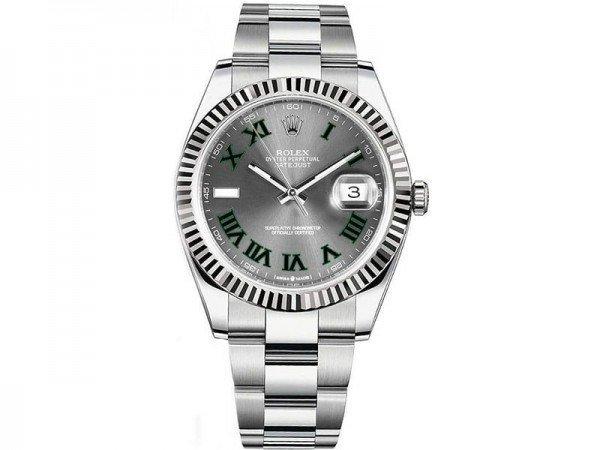 Rolex Datejust 126334 sltro 41 Grey Dial Oyster Steel Bracelet Watch @majordor #majordor