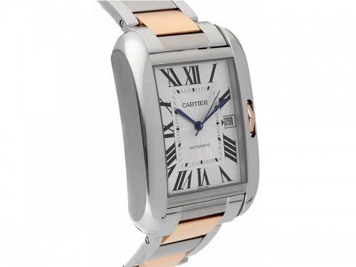 Cartier Tank Anglaise W5310006 Extra Large Steel Mens Luxury Watch side view @majordor #majordor caliber 1904