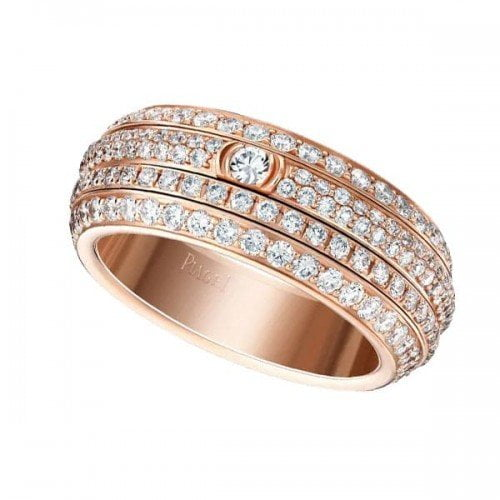 Piaget Possession Collection G34P1B00 Diamond Rose Gold Ladies Ring